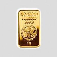 1 Gramm Goldbarren - Kinegram Münze Österreich