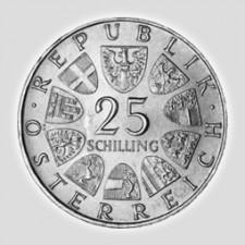 25 Schilling Silber Österreich 1955 – 1973