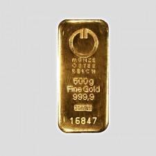 500 Gramm Goldbarren Münze Österreich LBMA zertifiziert