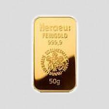 50 Gramm Goldbarren Münze Österreich geblistert mit Zertifikat