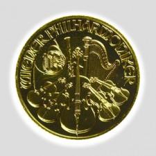 1 Unze Philharmoniker Gold Schillingprägung