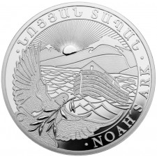 5 Unzen Armenien Arche Noah Silber, Differenzbesteuert § 24 UStG